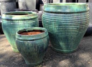 Glazed Ceramic Waffle Pots