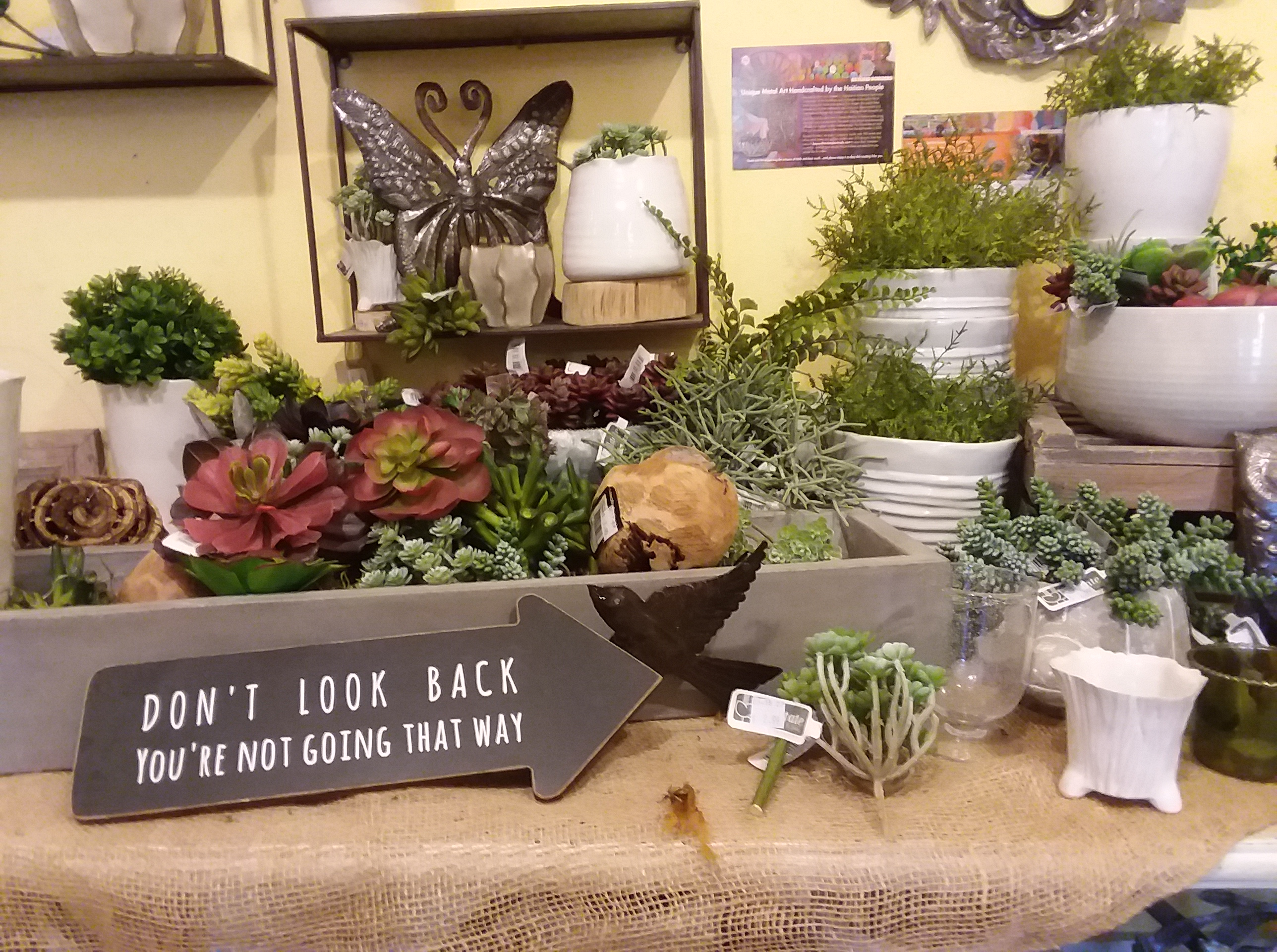 Gardener's Choice gift shop display